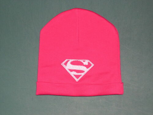 BABY PINK Romper HAT CAP SUPERGIRL PERSONALIZED 0-3 Mos NEWBORN QUALITY COTTON