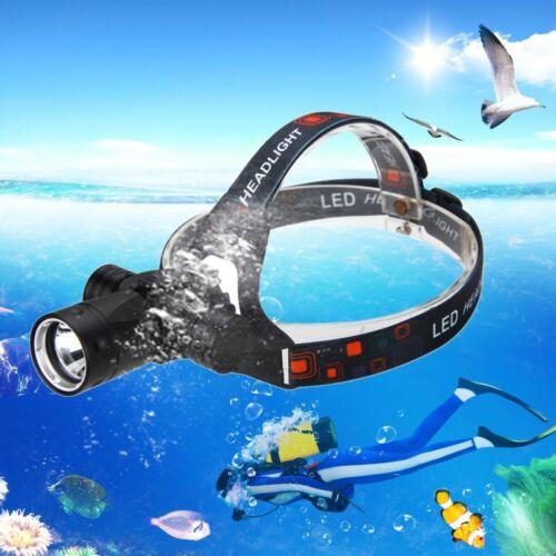 6000Lm XM-L T6 LED Tauchen Kopf Taschenlampe Kopflampe Unterwasser  bis 100m