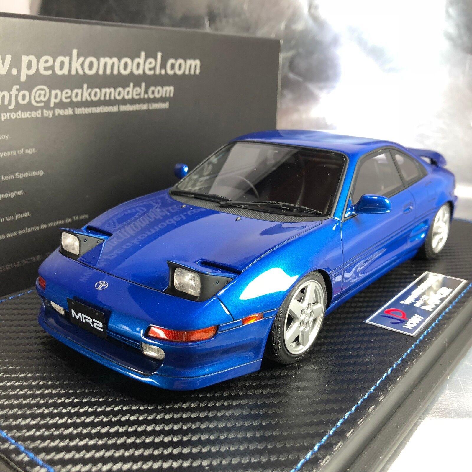 1/18 Peako JP Hobby #82405 Toyota MR2 SW20 1995 revision 3 Azure Blue