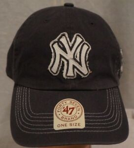 c6f1ad7afc4 NEW YORK YANKEES Forty Seven 47 Scituate Clean up Cap Navy Blue NWT ...