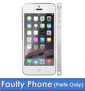 Apple-iPhone-5-16-Go-Sans-Sim-Debloque-Smartphone-iOS-Blanc-Argent-defectueux