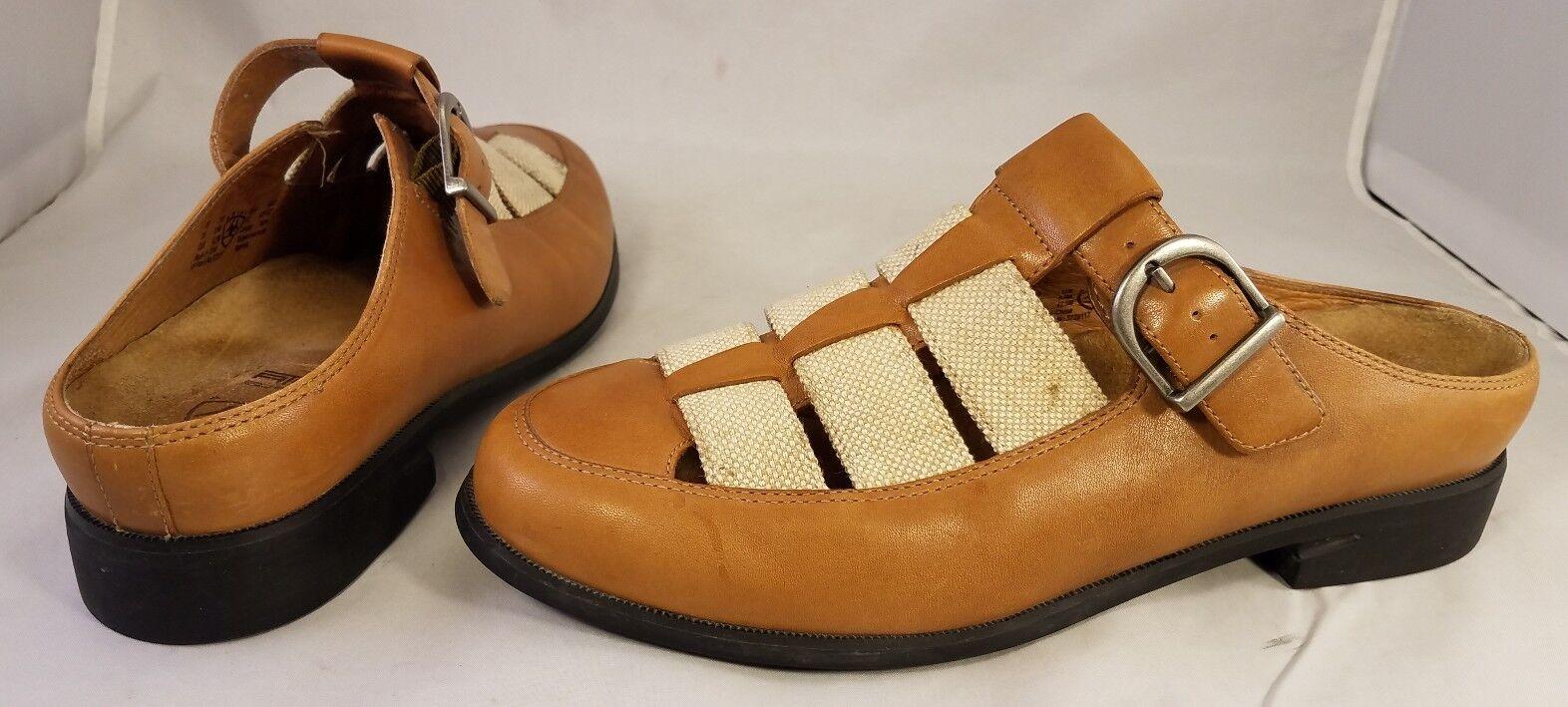 RARE ARIAT Schuhe Damenschuhe Schuhe ARIAT CLOGS MULES WOVEN TAN BEIGE SIZE US 11/ EUR 42.5 ea68c4