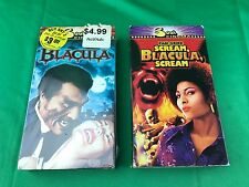 LOT OF 2 VHS Bacula (NEW) AND Scream Blacula, Scream (USED) - Blaxploitation