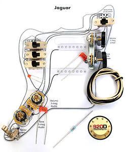 fender vintage jaguar wiring kit pots switch slider image is loading fender vintage 039 62 jaguar wiring kit pots