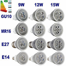GU10/E27/MR16/E14 Dimmable 9W 12W 15W LED Bulbs Spot Warm Cool White Light Lamp