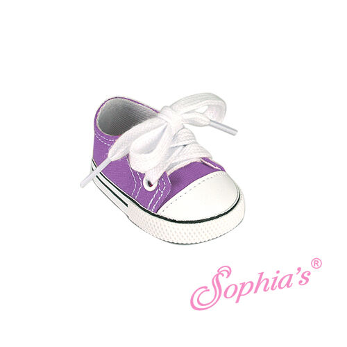 """Doll Clothes 18/"""" Sneakers Shoes Purple Sophia Fits American Girl Dolls"""