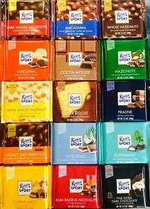 1 X 100g Ritter Sport Chocolate Assorted Varieties Bar Pack Bars New Uk Ebay