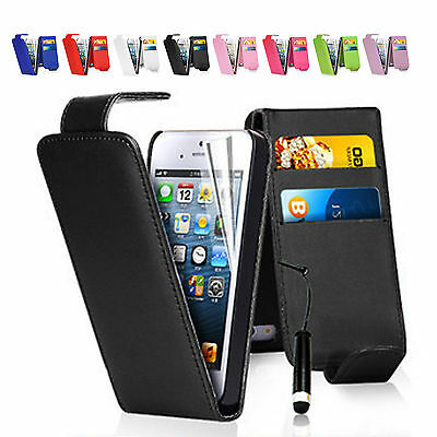 iPhone SE 5 5S Case Back Flip Leather Wallet Cover for Apple