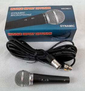 Dynamisches-Gesangsmikrofon-Mikrofon-mit-Kabel-NEU-NSDM21