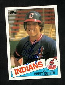 Details About Brett Butler Autograph Cleveland Indians 1985 Topps Baseball Card
