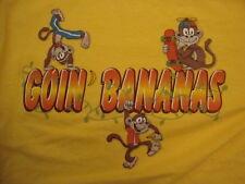 Goin Bananas Monkeys Funny Yellow Cotton T Shirt Size S