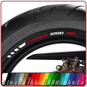 HONDA CBR FIREBLADE 1000 RR  wheel rim stickers decals - choice of 20 colours -