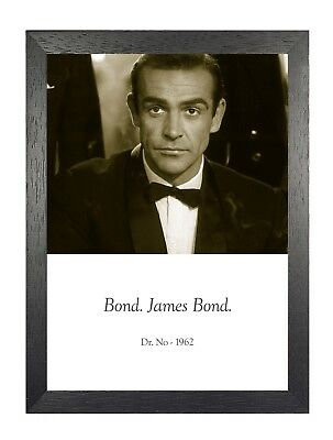 Dr No 1962 James Bond Film Sean Connery Black And White Photo Picture Poster