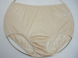 f52bd7e60fe3 Image is loading Sears-Fundamentals-100-Nylon-Brief-Panty-Beige-Size-