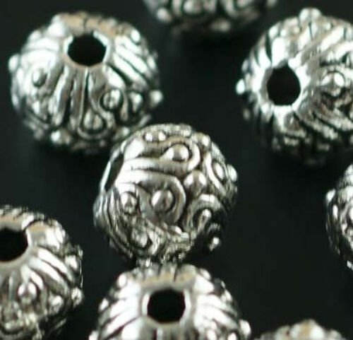New 20pcs Antique Silver Jewelry Making Finding Spacer Bead 7x6mm T1346