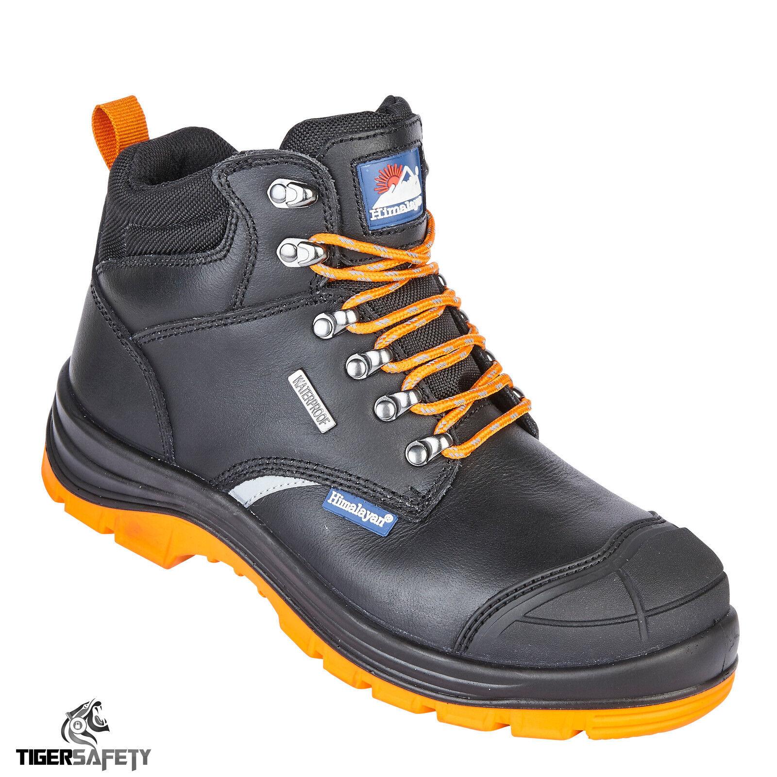 5402 dell'Himalaya S3 impermeabile nero in pelle Reflecto Acciaio Puntale Stivali di sicurezza
