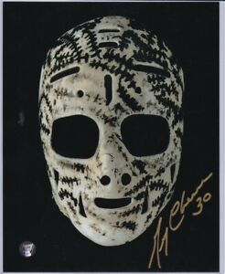 Autographed Gerry Cheevers Mask Photo 3