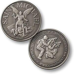 St Michael Swat Challenge Coin Nickel Patron Saint Police Sniper Policeman Ebay