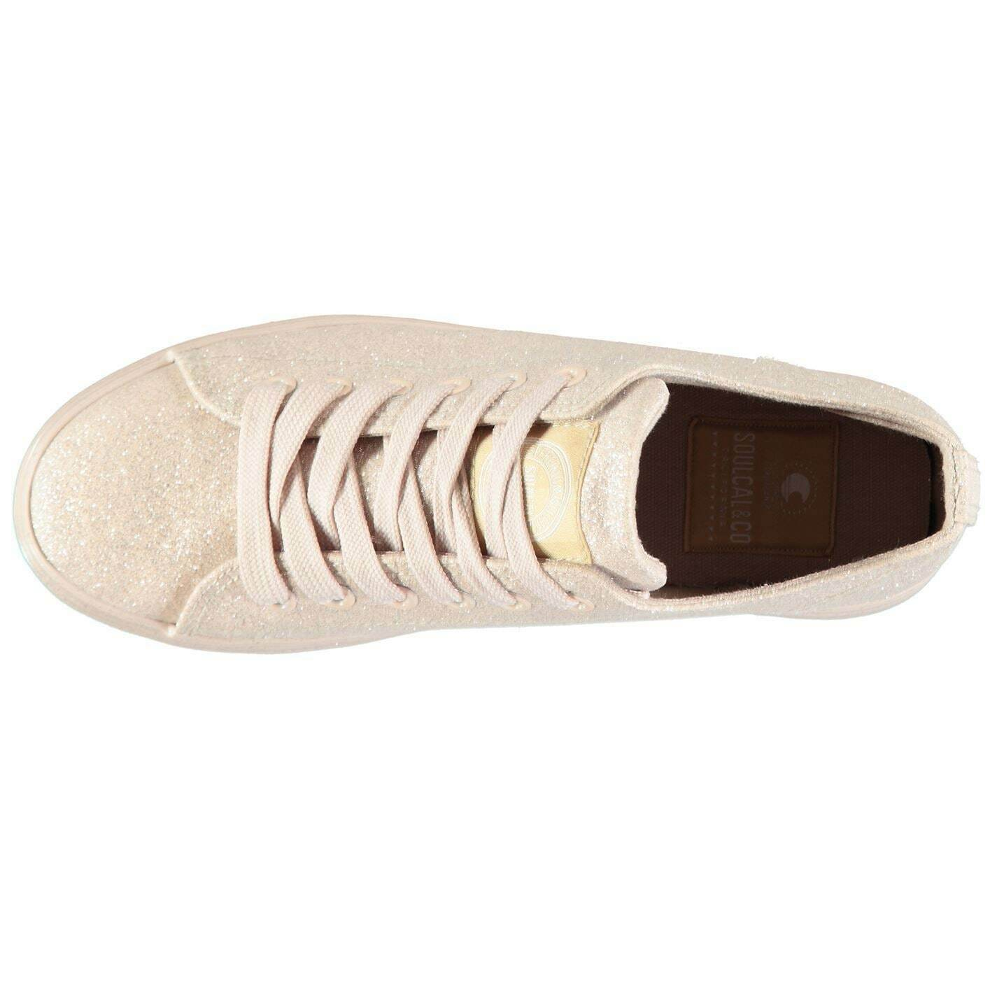 Womens SoulCal Candy Trainers Canvas Low Lace Up New
