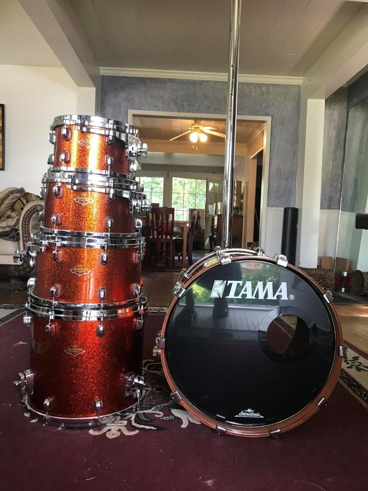 Tama Starclassic Full Bubinga 5 piece  Copper Sparkle  Made in Japan