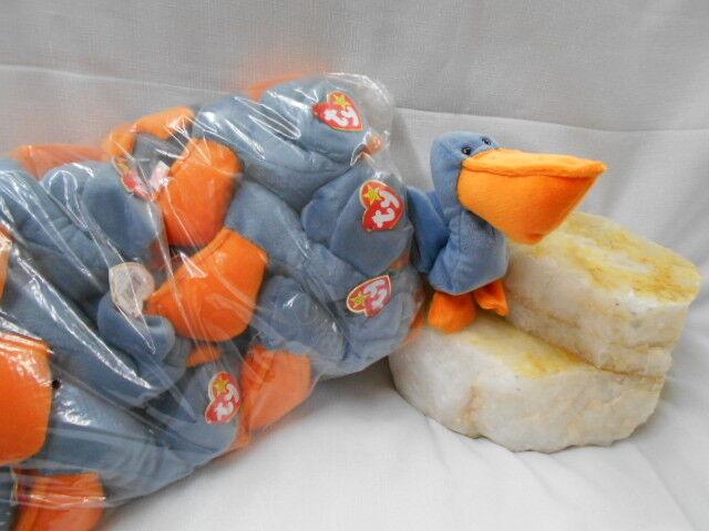 TY Beanie Babies- WHOLESALE One Dozen (12)    SCOOP  the Pelican- Ret New (2.50ea) 49875d
