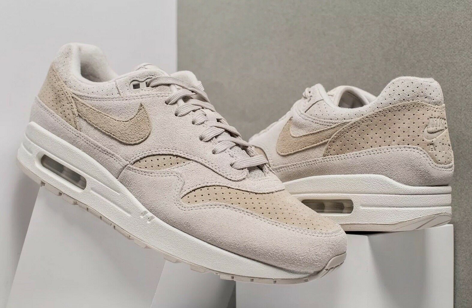 Nike Air Max 1 Premium 'Desert Sand' 875844-004 Größe UK 14 EU 49.5 US 15 New