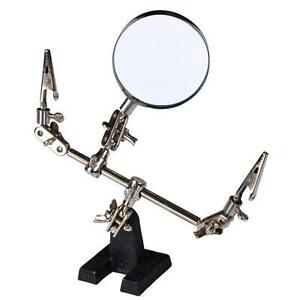 3X Magnification Glass Dual Clamps Soldering Iron Stand