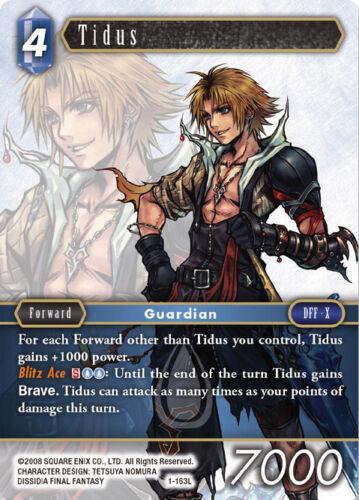 Mint//NM 1-163L Opus I Final Fantasy TCG SquareEnix SquareSoft FF TCG: Tidus
