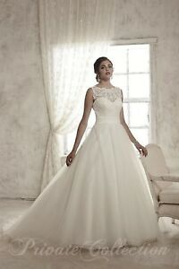 NWT-Size-14-Ivory-Private-Collection-48027-House-of-Wu-formal-illusion-bridal