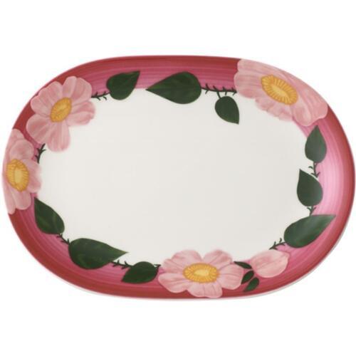 V/&B Rose Sauvage framboise Multifunktionsteller Teller oval Platte Servierteller