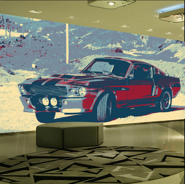 3D Old Car Pattern 1269 Paper Wall Print Wall Decal Wall Deco Indoor Murals
