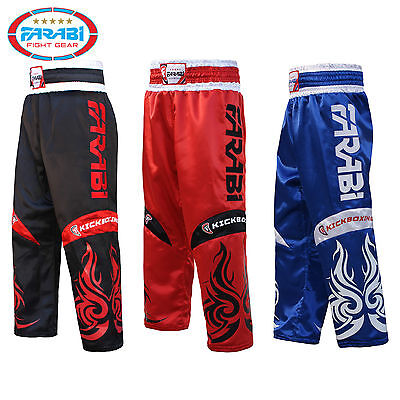 Farabi Kickboxing Trousers Pants training competition black red blue Adult