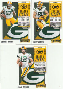 2 2018 CONTENDERS GREEN BAY PACKERS TEAM SET 3CDS SET AARON RODGERS ... 88c38fb02