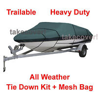 Crestliner 1650 Fish Hawk Boat Cover Trailerable Ct Free Shipping B1689g