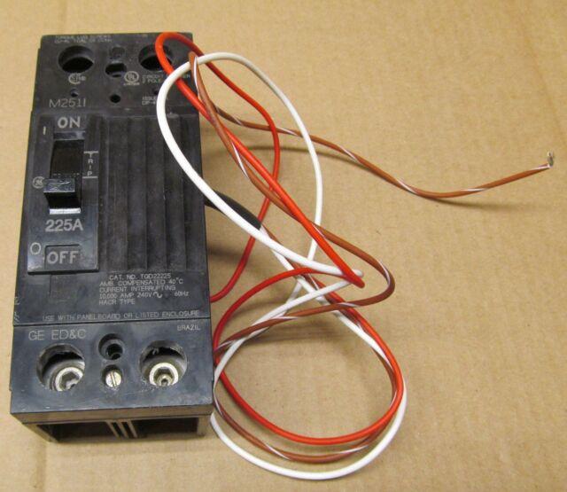 TQD225F GENERAL ELECTRIC 225AMP 240V NEMA 1W 225A BREAKER