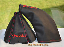FOR MAZDA MX5 mk1 89-97 embroidery MIATA ROADSTER GEAR HANDBRAKE GAITER LEATHER