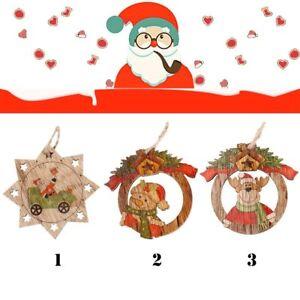 3pcs-Set-Y-Muneco-De-Nieve-Adornos-De-arbol-De-Navidad-Colgantes-De-Madera