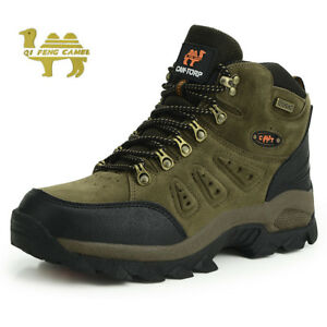 c8d5ec59ec0 Details about Men's lightweight waterproof mid cut top comfortable hiking  boots shoes brown