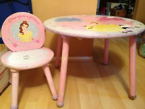 Swell Details About Kids Disney Princess Table Round With Chair Pink Kids Wood Furniture Evergreenethics Interior Chair Design Evergreenethicsorg