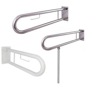 Aufstehhilfe Griff Klappgriff Papierrollenhalter oder Stützbein am WC  50-85 cm