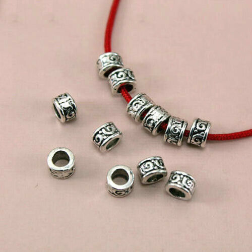 50pcs Jewelry Necklace Bracelet Making Loose Spacer Beads Silver Findings#Q