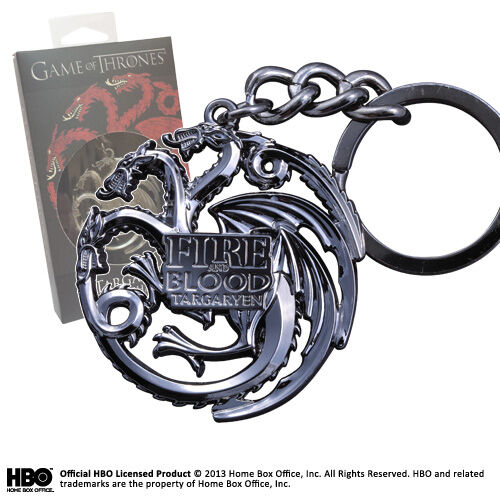Game Of Thrones Targaryen House Sigil Metal Keychain Schlüsselanhänger