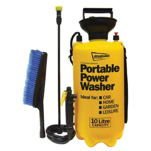 Portable pressure washer car cleaner home power pump hose jet wash lance brush