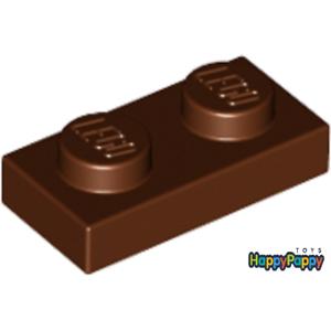 Lego 10x Platte 1x2 Braun Reddish Brown Plate 3023 Neuware New