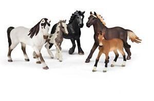 Estatuilla-de-paquete-de-Coleccionistas-Schleich-5-caballos-Juguetes-Multicolor