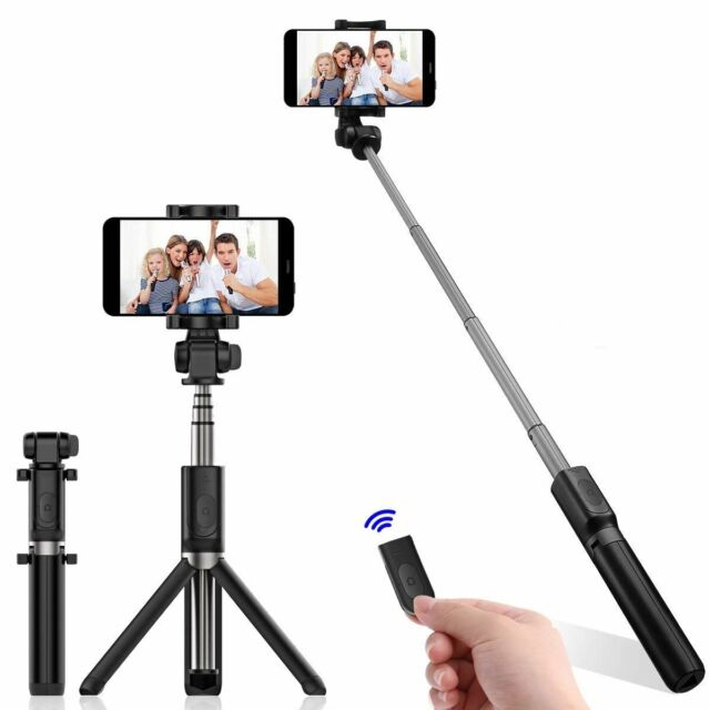 Mini Bluetooth Selfie Stick Stange Stativ Monopod Smartphone Handy Halterung Bl