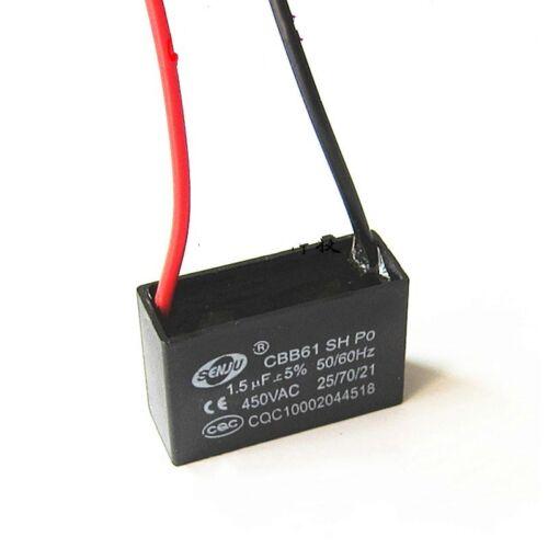 5UF CBB61 Start Capacitor Fan Start Capacitor Wire Length10cm 450V 1UF
