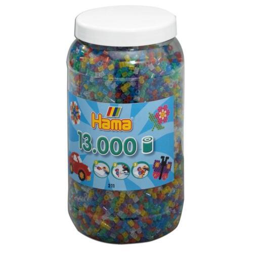 Hama Midi Bügelperlen Mix-54 211-54 Dose 13000 Stk Farbe Glitzer Perlen gemischt