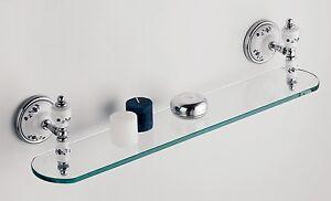 Mensole Per Bagno Vetro.Dettagli Su Mensola In Vetro E Ceramica Dipinta A Mano Per Arredo Bagno Ab 25015