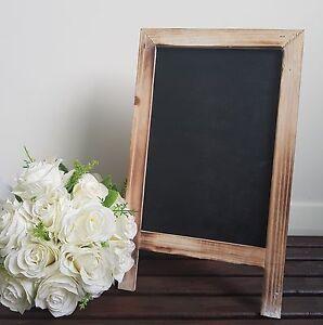 Image Is Loading Rustic Vintage Blank Chalkboard Blackboard Easel Frame Wedding